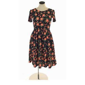 4/25 New LulaRoe Amelia Flare Dress Floral Print